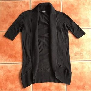 Express Black Short Sleeved Open Front Cardigan M